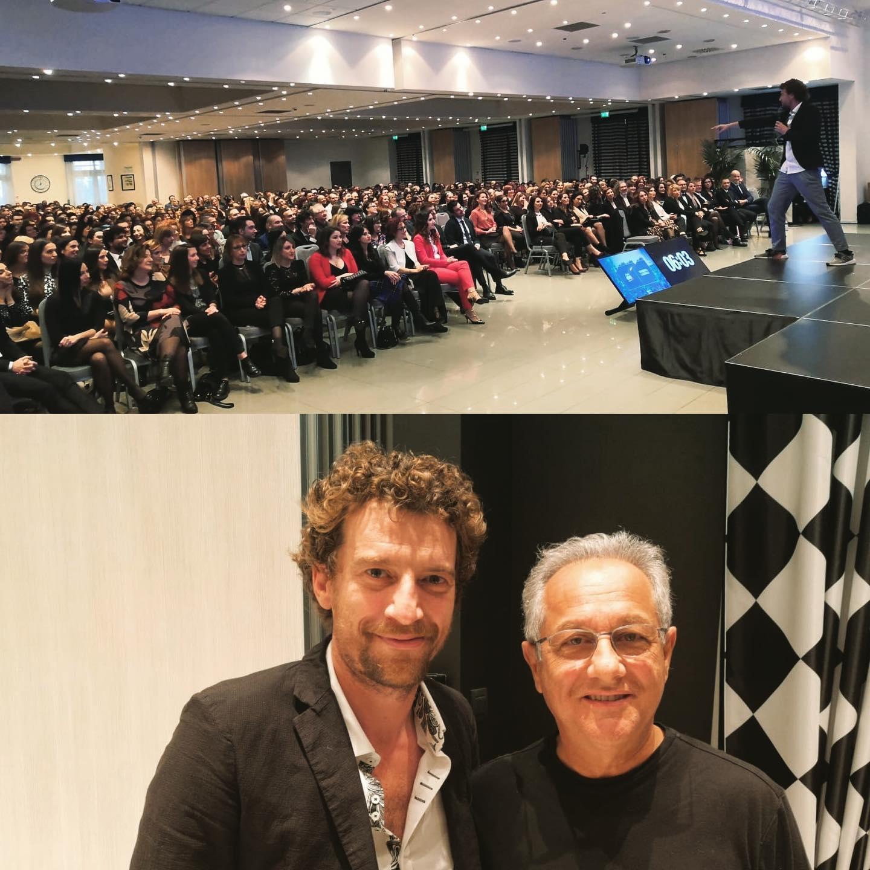Maurizio Lastrico con Julio Velasco @Bologna